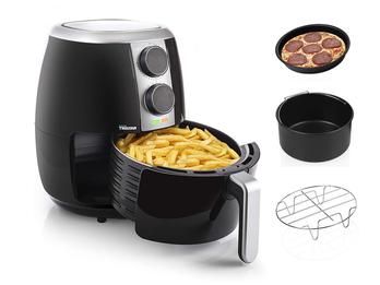 Heißluftfritteuse & 3tlg Zubehörset - Crispy Fryer ohne Öl 3,5 Liter, 1500 Watt