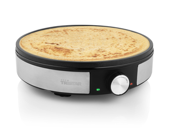 Edelstahl Creperie Pancake Maker für low carb Crepes Crepeseisen Ø30cm