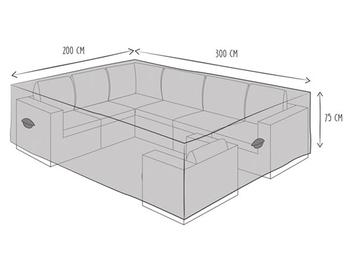 Wetterfeste Schutzhülle Abdeckung L für Gartenmöbel Lounge Set 300x200x75cm