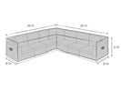 Wetterfeste Schutzhülle Abdeckung für L-förmiges Garten Lounge Set, 300x300x90cm