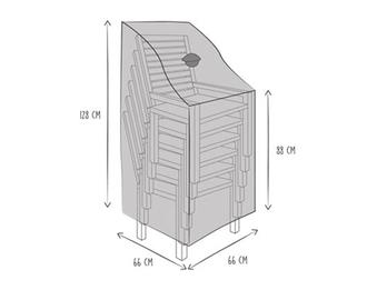 Gartenmöbel Schutzhülle für 4-6 Stapelstühle 66x128cm, Abdeckhaube mit Belüftung