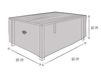 Schutzhülle Abdeckung Gartentisch bis 160cm, wetterfest Belüftung & Hakensystem