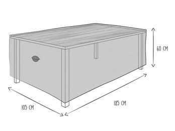 Schutzhülle Abdeckung Gartentisch bis 180cm, wetterfest Belüftung & Hakensystem
