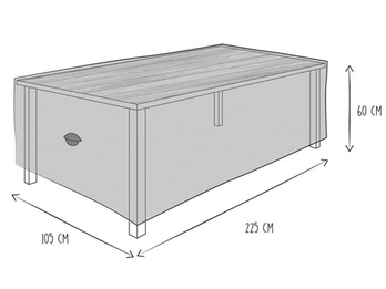 Schutzhülle Abdeckung Gartentisch bis 220cm, wetterfest Belüftung & Hakensystem