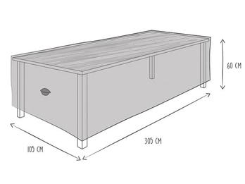 Schutzhülle Abdeckung Gartentisch bis 300cm, wetterfest Belüftung & Hakensystem
