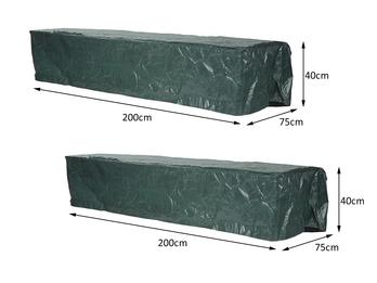 Schutzhüllen 2er SET für Sonnenliege, Abdeckhaube Gartenliege 200x75x40cm