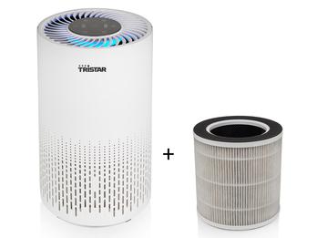 Luftreiniger mit Timer & Luft Qualitätsanzeige, für 25m² inkl. Ersatz Hepafilter