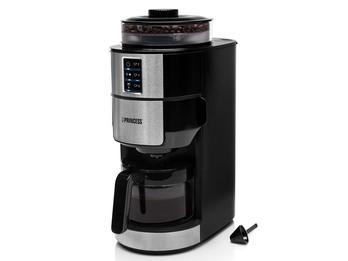 Kaffeemaschine 6 Tassen mit Mahlwerk für Bohnen & Filterkaffee
