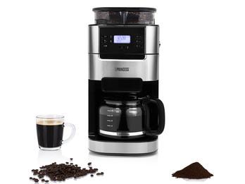 Kaffeemaschine 10 Tassen mit Mahlwerk für Bohnen & Filterkaffee