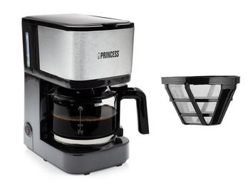 Kaffeemaschine mit Glaskanne für 8 Tassen & 2x Permanentfilter