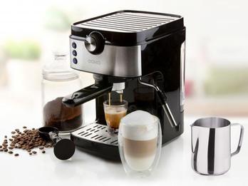 Espressomaschine Siebträger mit Milchschäumer & Milchkännchen