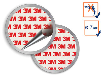 Universal Magnethalter Montageset Ø 7cm für Rauchmelder