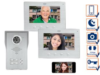 2 Familienhaus IP Türklingel mit Kamera & App - Videosprechanlage