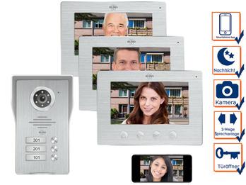 3 Familienhaus IP Türklingel mit Kamera & App - Videosprechanlage