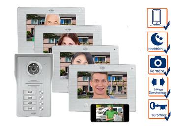 4 Familienhaus IP Türklingel mit Kamera & App - Videosprechanlage