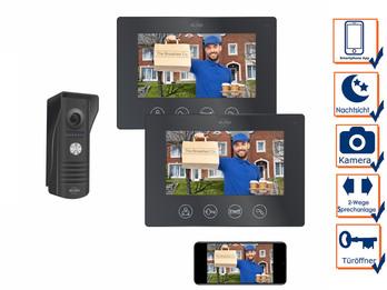 1 Familienhaus Türklingel mit 2 Monitoren - Video Türsprechanlage