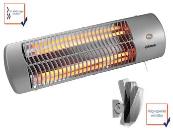 Halogen Heizstrahler für Feuchträume geeignet, bis 1200 Watt, Wickeltischheizer