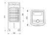 Standventilator mit Wasserkühlung Fernbedienung Timer - Wassertank 3 Liter