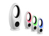 Bodenventilator Standlüfter mit Fernbedienung, Timer, RGB Farbwechsel