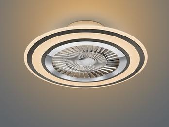 Dimmbarer LED Deckenventilator FLAGA schwarz Ø60cm Fernbedienung, Nachtlicht