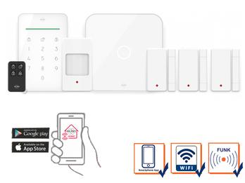 SMART HOME Alarmsystem mit Wifi & GSM Funktion Komplettset mit App