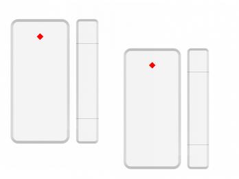 Fenster & Türen Magnetkontakt 2er Set für ELRO AS90S Home+ Alarmanlage mit App