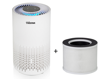 Luftreiniger mit Timer & Luft Qualitätsanzeige, für 15m² inkl. Ersatz Hepafilter