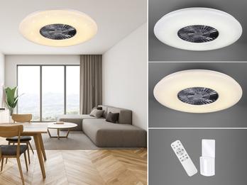 LED Deckenventilator dimmbar Ø75cm & Fernbedienung mit Wandhalterung