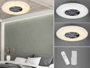 LED Deckenventilator dimmbar Ø59cm & Fernbedienung mit Wandhalterung