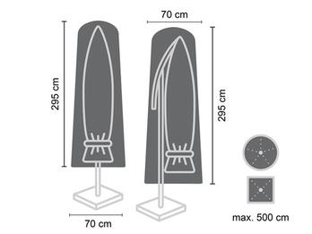 Schutzhülle für Sonnenschirm bis Ø 500cm - Abdeckung 295x70cm