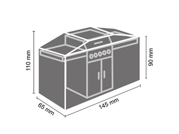 Schutzhülle Gartengrill universal Grill Abdeckhaube 145x65x110cm