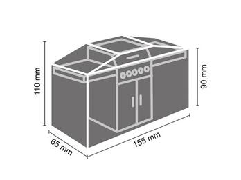 Schutzhülle Gartengrill universal Grill Abdeckhaube 155x65x110cm