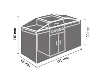 Schutzhülle Gartengrill universal Grill Abdeckhaube 175x65x110cm