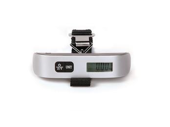 Kofferwaage mit Temp.-Anzeige, LCD-Display 50g-genau, max. 50kg