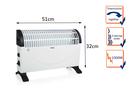 Konvektorheizung, 1500W, 3 Leistungsstufen, Thermostat, 20m²