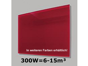300W Glas-Heizpaneele (rot) mit Aktivreflektortechnik, 70x50cm, Räume 6-15m³