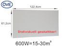 600Watt Infrarotheizung, 122,4x61,2 cm, für Räume 15-30m³, auch für Rasterdecken