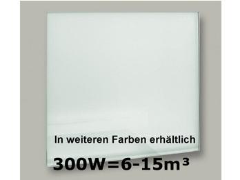 300W Glas-Heizpaneele (weiß) mit Aktivreflektortechnik, 70x50cm, Räume 6-15m³