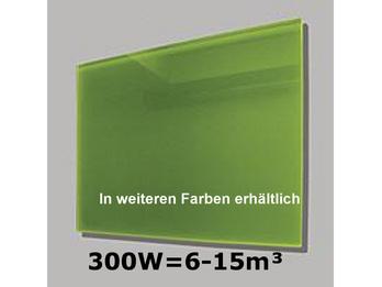 300W Glas-Heizpaneele (grün) mit Aktivreflektortechnik, 70x50cm, Räume 6-15m³