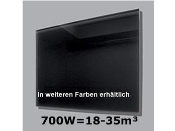 700W Glas-Heizpaneele (schwarz) m. Aktivreflektortechnik, 110x60cm,Räume 18-35m³