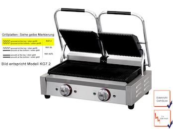 Profi Edelstahl Kontaktgrill, 2 x 2200 Watt, Temperatur von 50 bis 300 °C