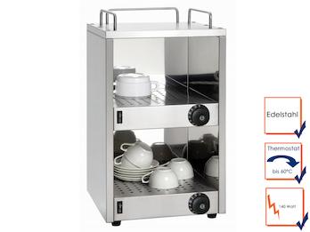 Profi Edelstahl Tassenwärmer für ca. 40 Tassen Temperatur bis 60 °C, 140 Watt