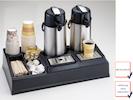 Doppelte Profi Kaffeestation, Selbstbedienungs Station, hochfestes ABS-Kunstsoff
