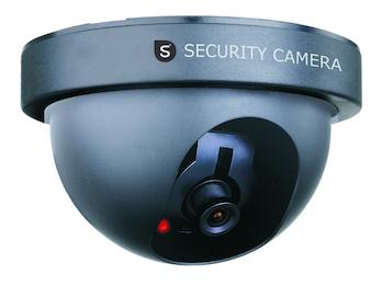 Domekamera Attrappe Dummy-Kamera, mit Blink-LED, batteriebetrieben