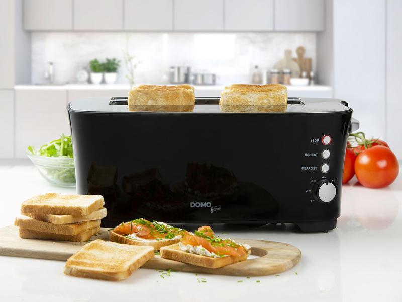 Toaster schwarz B-Smart, 1350 Watt, 3 Funktionen, 7 Temperaturstände