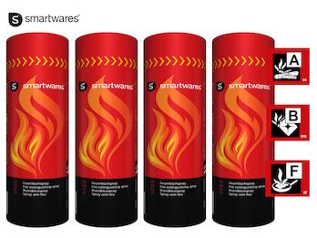 4er-Set Feuerlöschspray für Entstehungsbrände in Haushalt, Auto, Camping