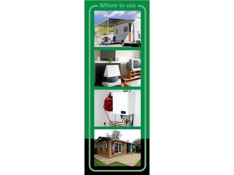 Testtaste /& Batterie Gasmelder für Propan Methan 85dB Butan