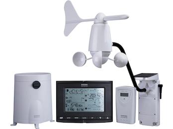 Wetterstation mit Display und Thermo-/Hygro, Wind- und Regensensor