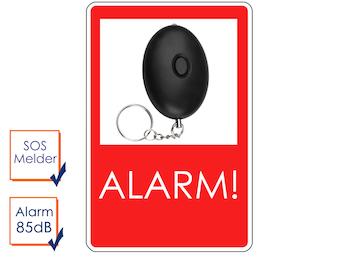 Mini-Taschenalarm Überfallalarm SOS-Notruf Personen-Alarm 85dB