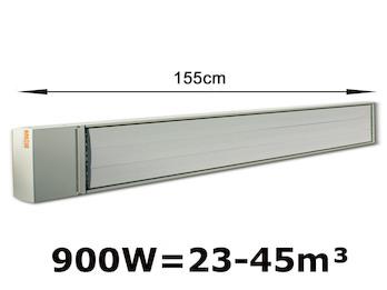 900W Industrie-Strahlungsheizung, Räume 23-45m³, Hallenheizung pulverbeschichtet